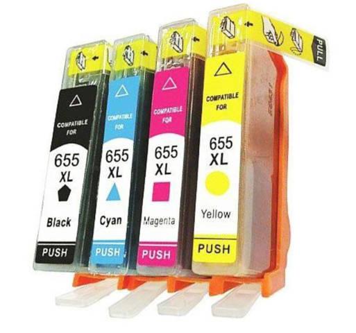 Zgodne z hp 655XL zestaw 4 tuszy do HP DeskJet 3525 4615 4625 5525 6525 / DD-Print