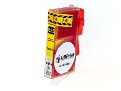 Zgodny z hp 655XL tusz Żółty do HP Deskjet Ink 3525 4615 4625 5525 6525 DD-Print
