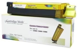 Toner Cartridge Web Yellow OKI C5650 zamiennik 43872305
