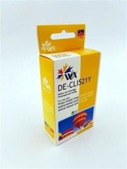 Tusz Wox Yellow Canon CLI 521Y z chipem zamiennik CLI-521Y