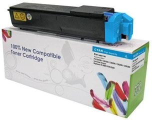 Zgodny Toner do Kyocera C5015 C5016 C5020 C5025 / TK-500C TK510C TK520C / Cyan / 8000 stron / zamiennik